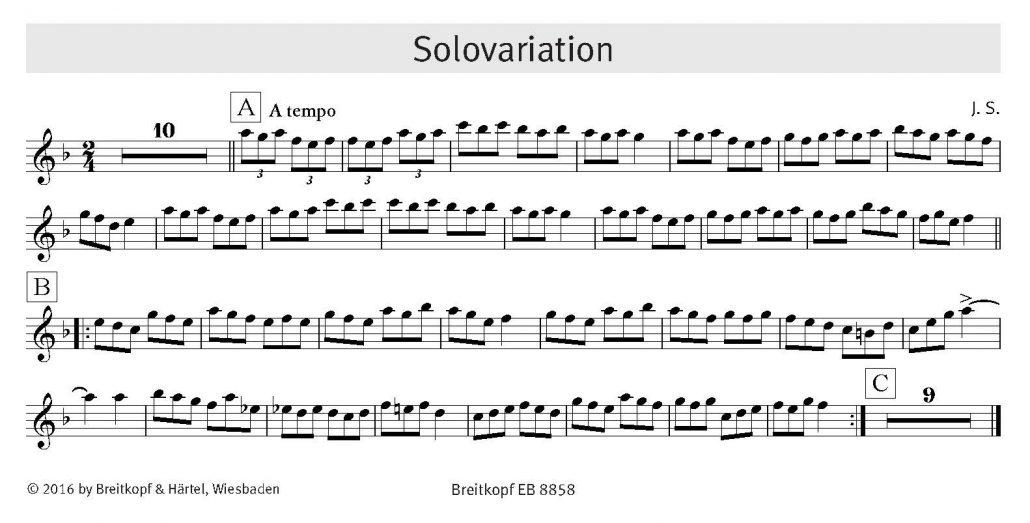Addizio! Flötenstimme Solovariation