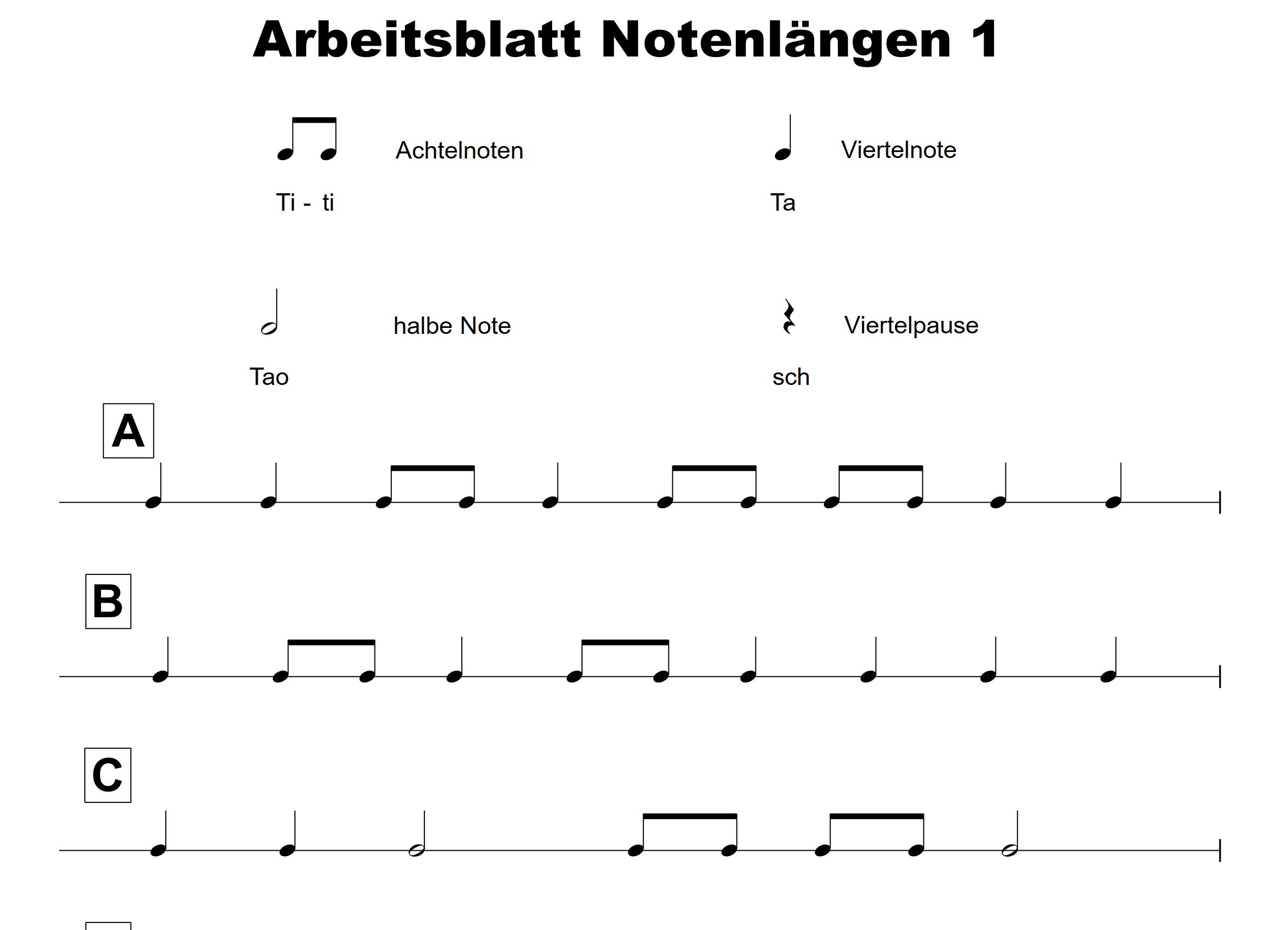 Start der Bläserklassen mit Rhythmus Zwei hilfreiche ...
